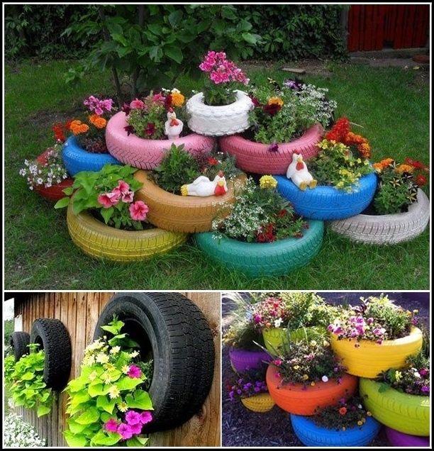 decoracao de jardim gastando pouco:COMO DECORAR GASTANDO POUCO COM PNEUS Luanna Pimentel