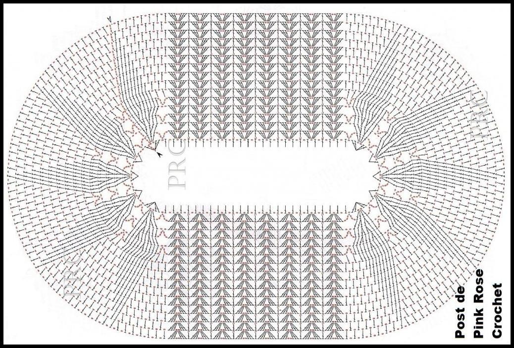 Tapete Oval De Cr ~ tapete oval de croch u00ea gráfico Luanna Pimentel