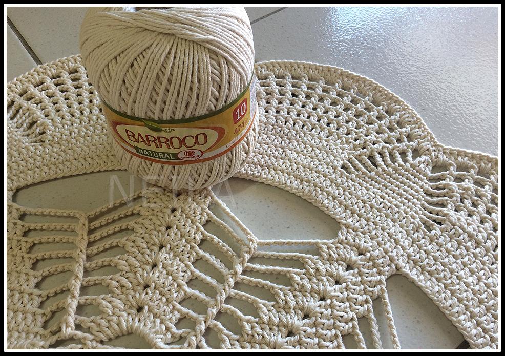 Lindos Tapetes De Croch 202 Com Gr 193 Fico Luanna Pimentel