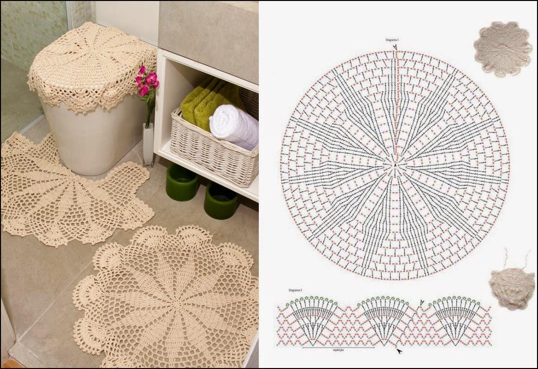 Lindos Tapetes De Barbante Para Banheiro Com Graficos Luanna Pimentel